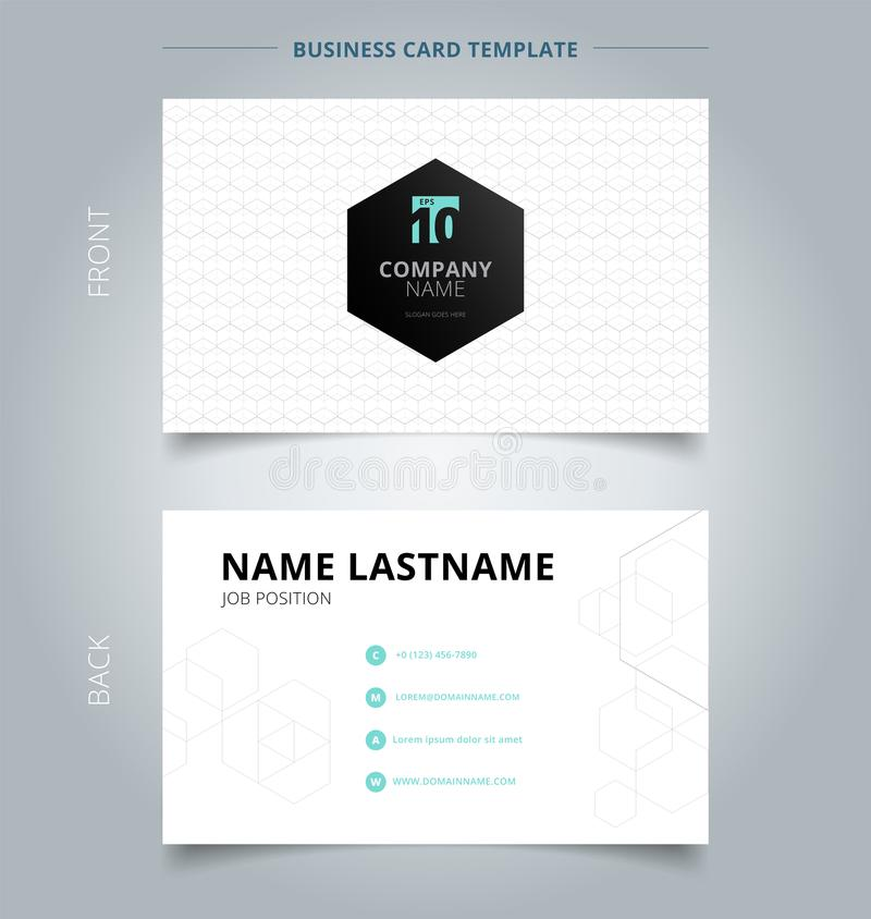Blanco geométrico creativo de la plantilla de la tarjeta y de la tarjeta de presentación de visita, g libre illustration