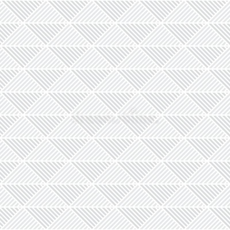 Blanco geométrico del papel pintado del fondo de la teja del vector inconsútil del modelo del triángulo stock de ilustración