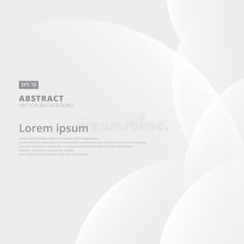 Blanco geométrico y gris abstractos con diseño moderno del espacio en Li ilustración del vector