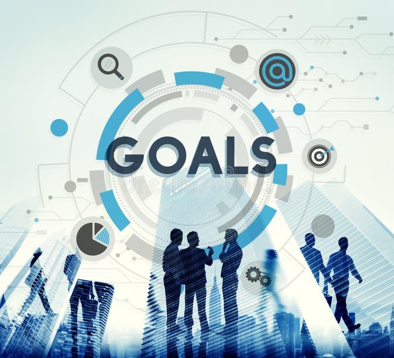 Blanco Hud Aspiration Concept de la misión de las metas stock de ilustración