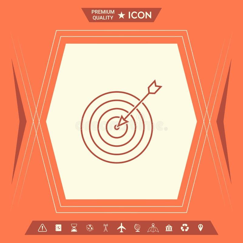 Blanco, icono de la línea de meta ilustración del vector