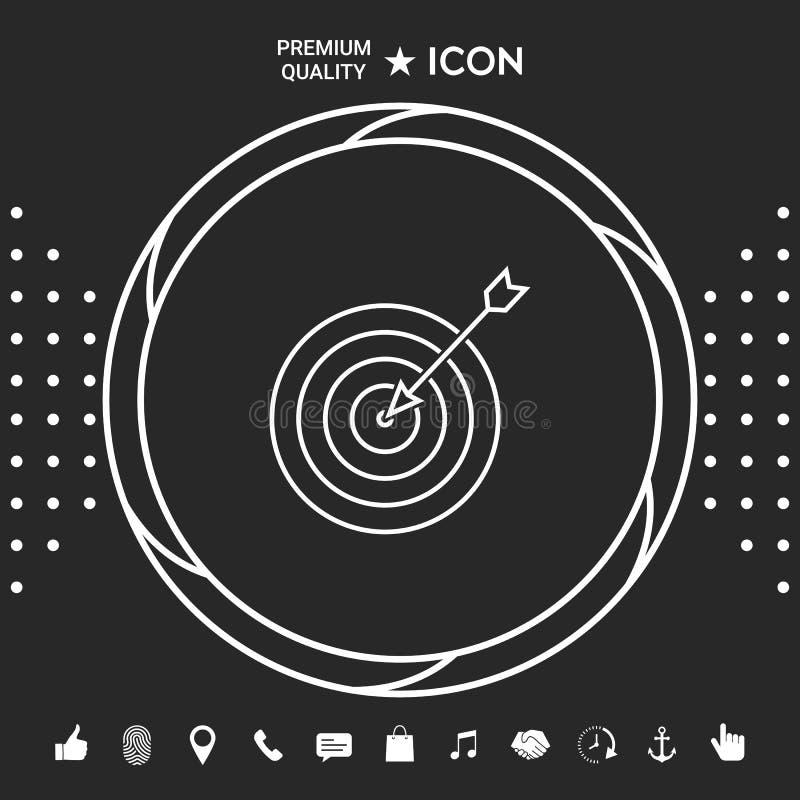 Blanco, icono de la línea de meta Elementos gráficos para su designt libre illustration