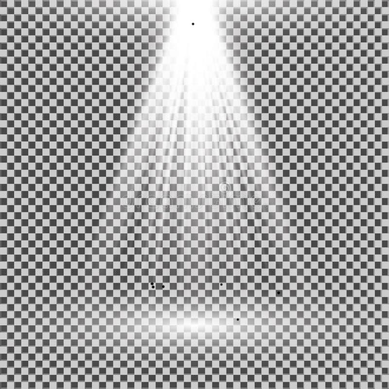 Blanco Ligero Del Proyector Plantilla Para El Efecto Luminoso Sobre ...