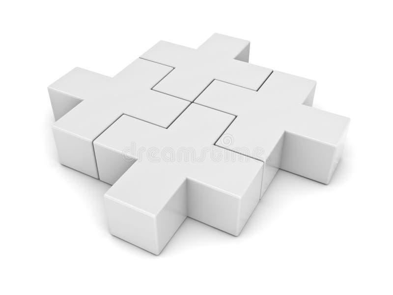 Blanco más rompecabezas de rompecabezas libre illustration