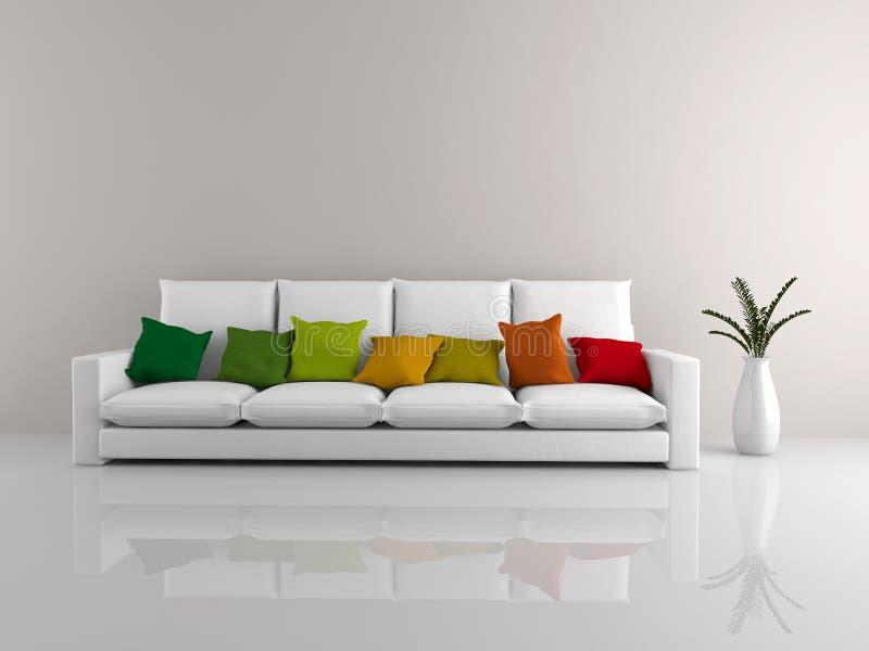 Blanco minimalista del sofá ilustración del vector