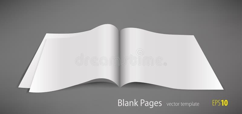 Blanco pagina royalty-vrije illustratie