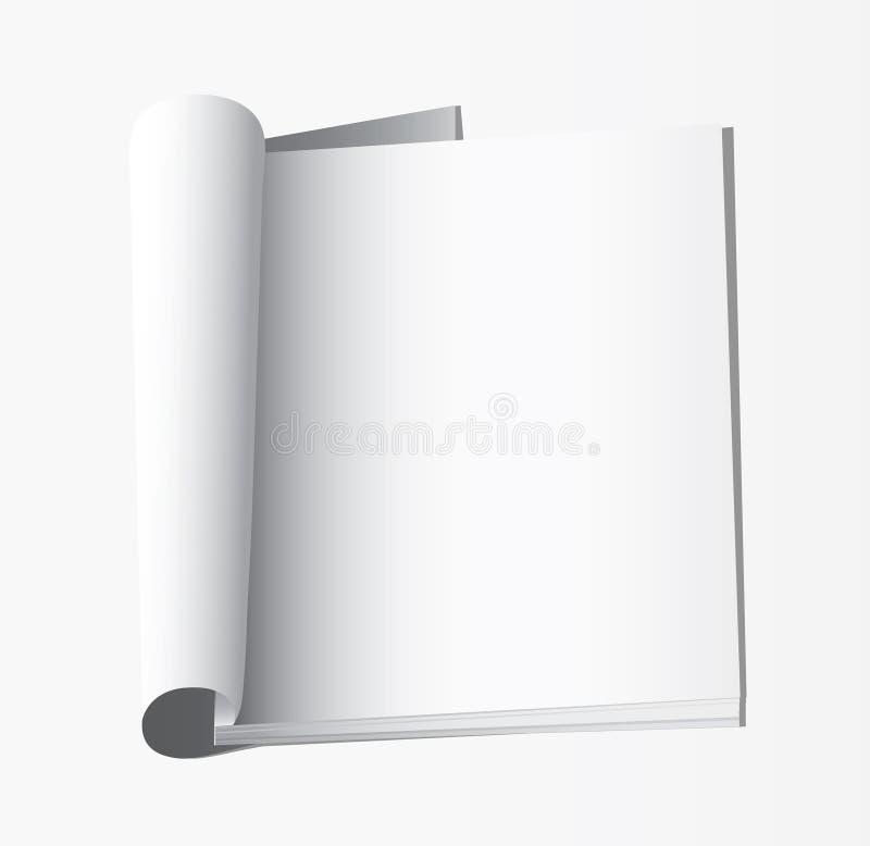 Blanco pagina's binnen van dagboek royalty-vrije illustratie