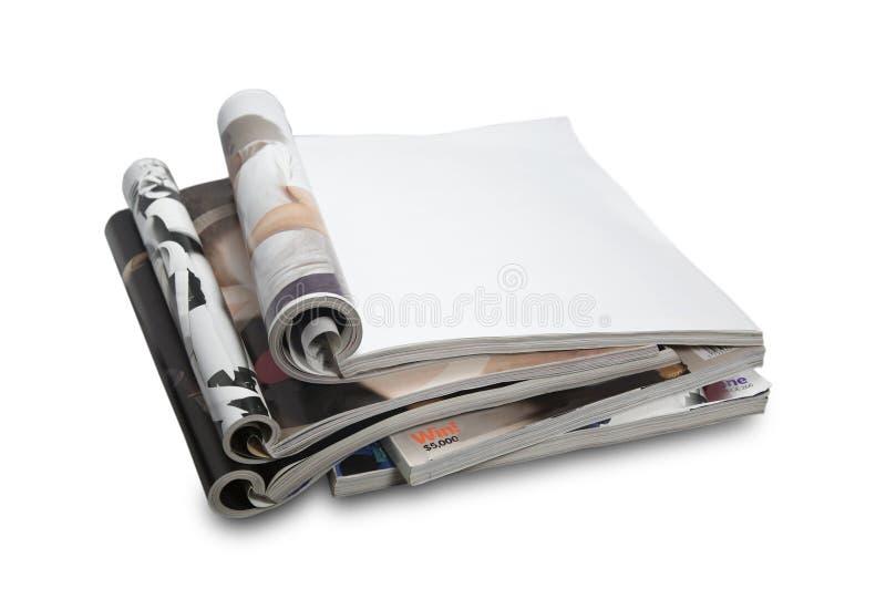 Blanco paginatijdschrift royalty-vrije stock afbeeldingen