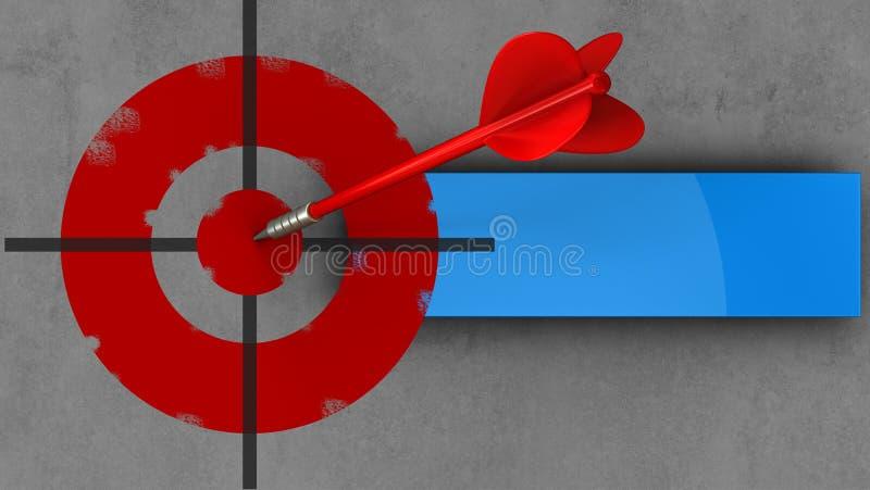 blanco pintada 3d con el dardo rojo libre illustration