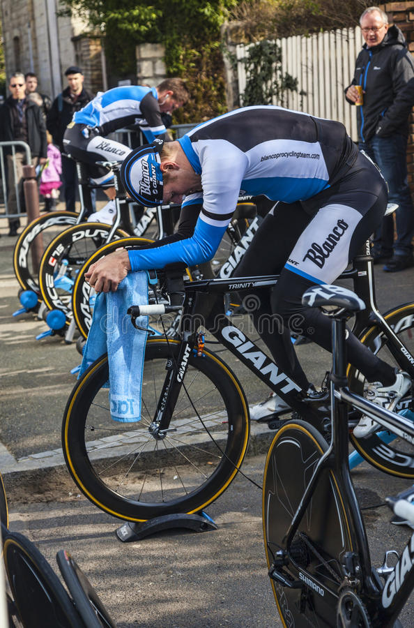 Blanco-Pro Cycling Team Editorial Photo
