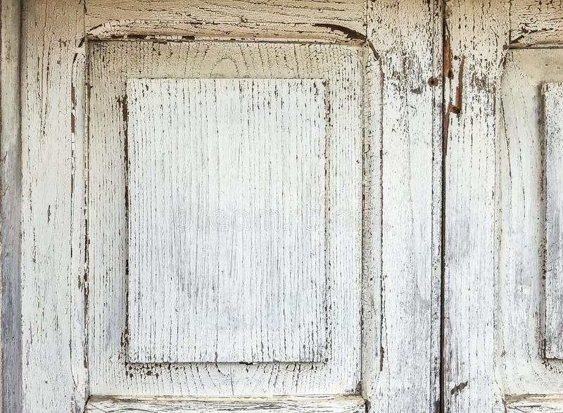 Blanco puerta de madera pintada viejo Grunge Fondo de la textura para el diseño foto de archivo