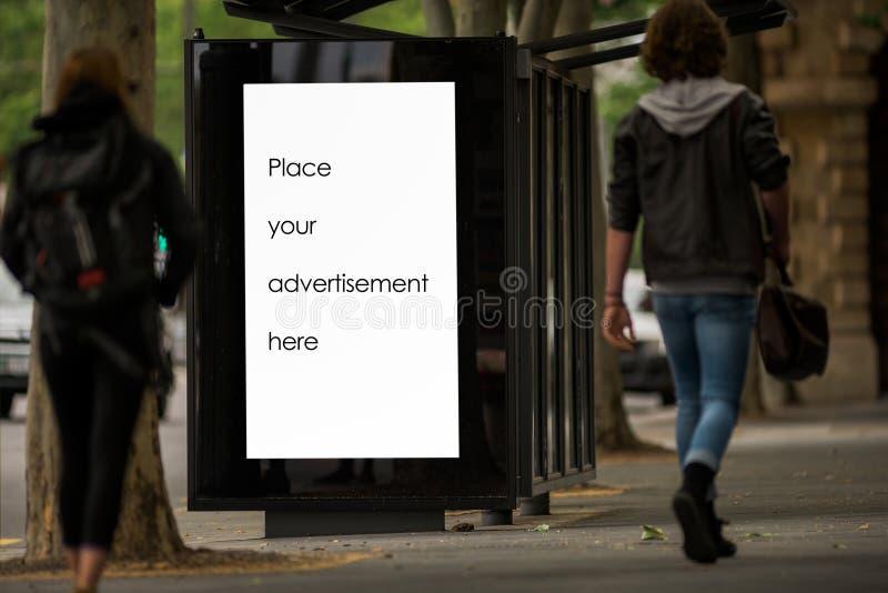 Blanco reclameruimte buitenshuis stock afbeelding