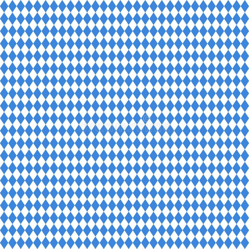 Blanco recto grande inconsútil de Diamond Pattern Oktoberfest Blue And stock de ilustración