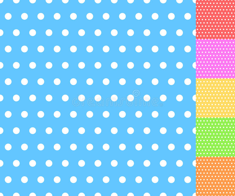 Blanco repetible básico más un modelo del color Geométrico simple stock de ilustración