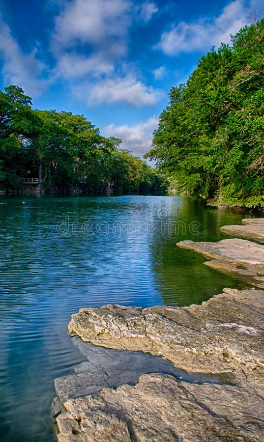 Blanco River. The clear waters of the Blanco River, Wimberley, Texas royalty free stock images