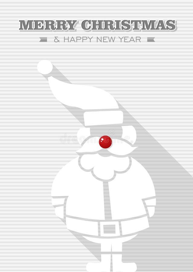 Blanco rojo Santa Claus del punto de la Feliz Navidad. libre illustration