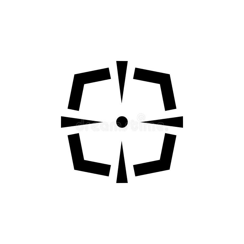 Blanco simple del objetivo del rifle de francotirador ilustración del vector