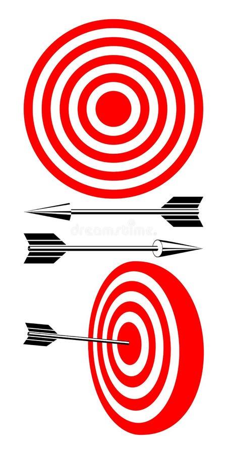 Blanco y flechas. ilustración del vector