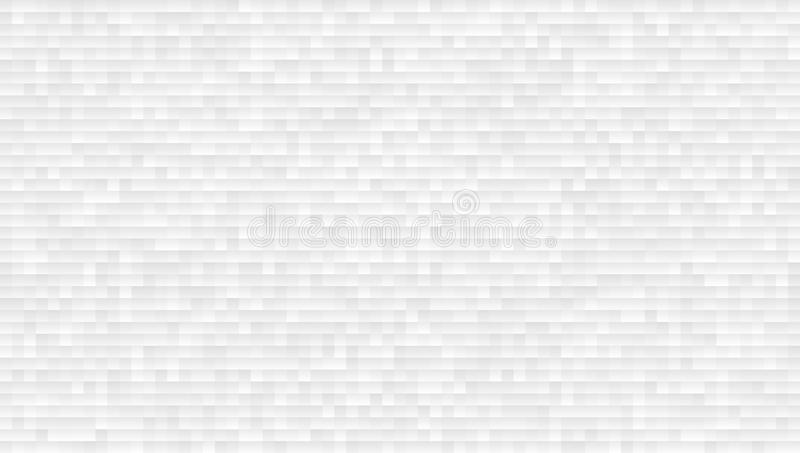 Blanco y Grey Abstract Perspective Background 16x9 ilustración del vector