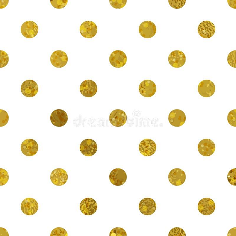 Blanco y modelo del oro Fondo abstracto del lunar libre illustration