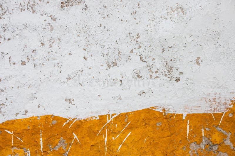 Blanco y naranja del yeso de Lisboa imagen de archivo
