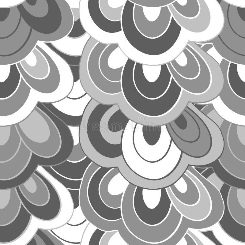 Blanco y negro abstracto dibujada mano del garabato del vector libre illustration