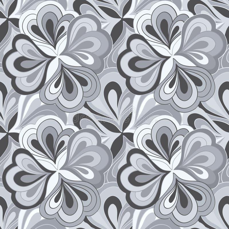 Blanco y negro abstracto dibujada mano del garabato del vector stock de ilustración