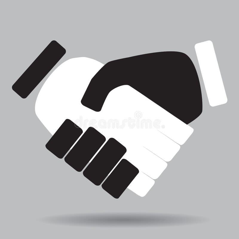 Blanco y negro aislados apretón de manos libre illustration