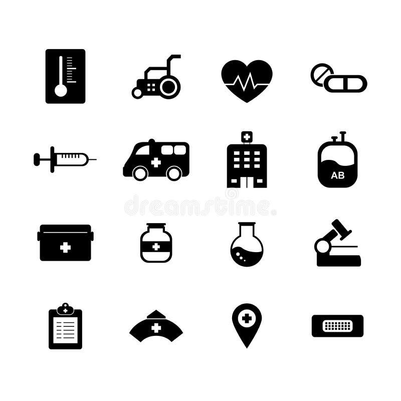 Sistema del icono del hospital libre illustration