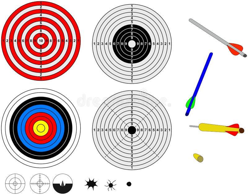 Blancos y proyectiles del Shooting ilustración del vector