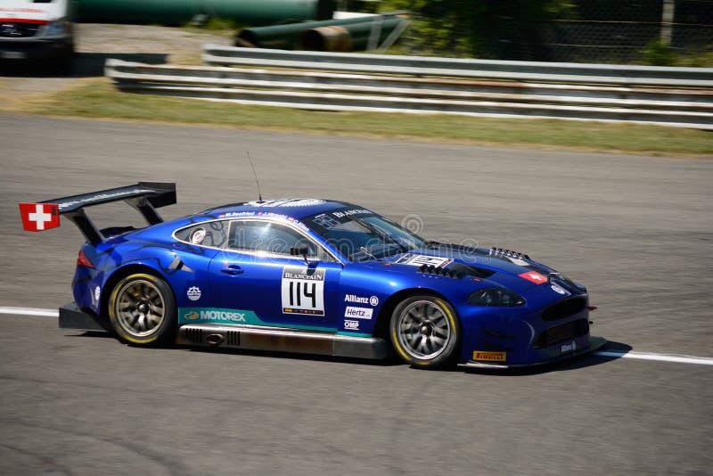 Blancpain GT serie 2017 Jaguar på Monza fotografering för bildbyråer