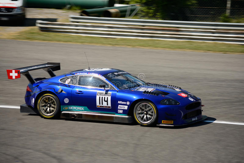 2017 Blancpain GT serie Jaguar przy Monza obraz stock
