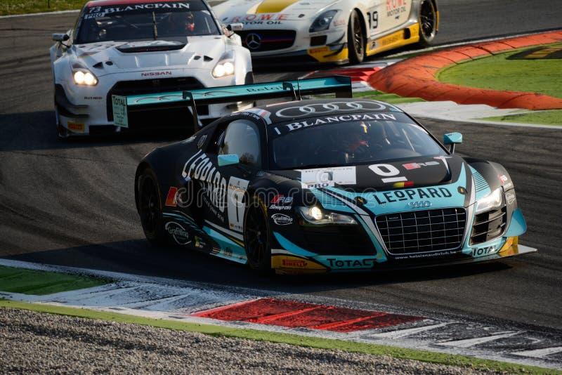 Blancpainreeks 2015 Audi R8 LMS ultra in Monza royalty-vrije stock foto's