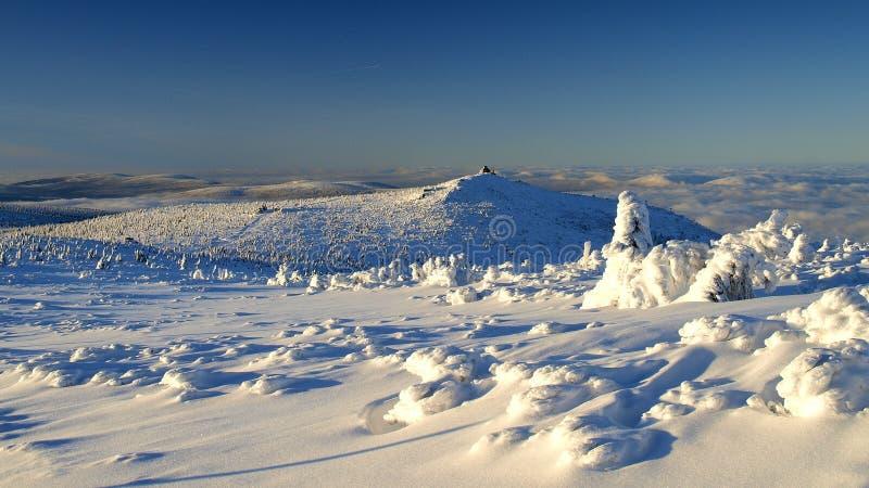 Blancura en las montañas gigantes/Karkonosze fotografía de archivo