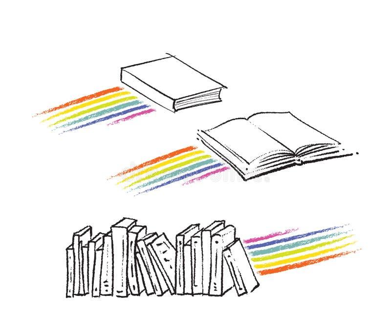 bland annat rörelse- regnbåge för boksymboler royaltyfri illustrationer