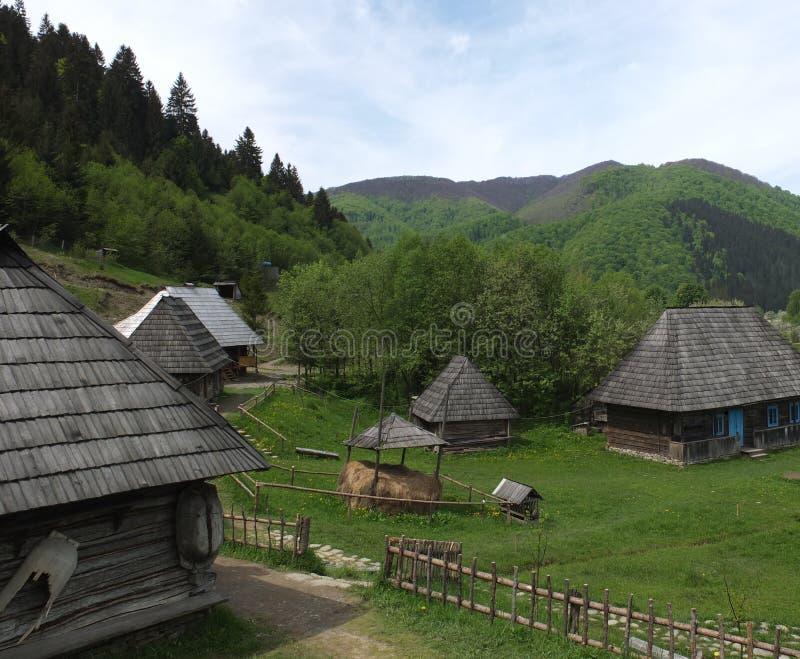 Bland bergen arkivbild