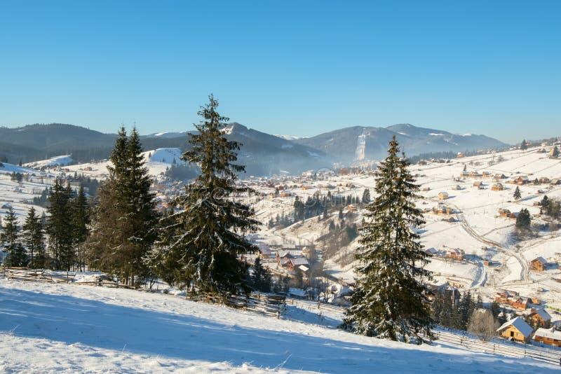 By bland dolda berg för snö royaltyfri bild