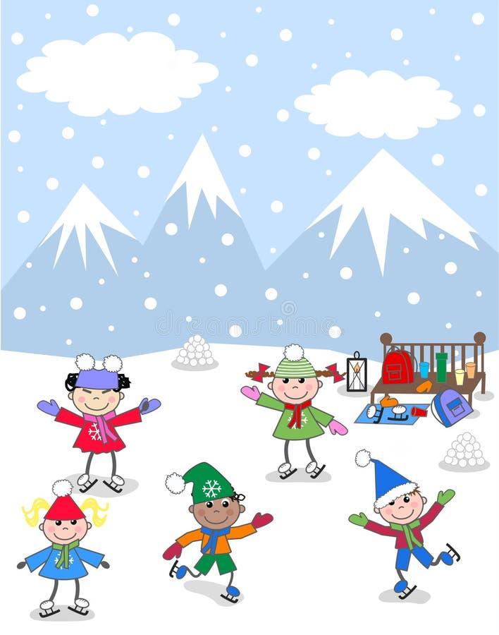 blandad barnperson som tillhör en etnisk minoritet stock illustrationer