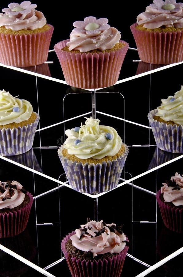 blandad cakeskoppstand fotografering för bildbyråer