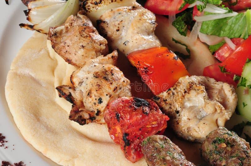 blandad kebab arkivbilder