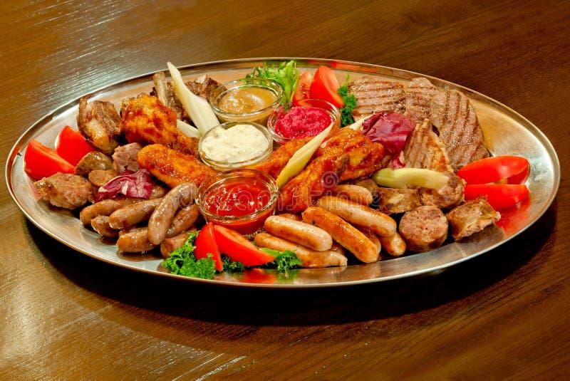 blandad meat royaltyfri bild