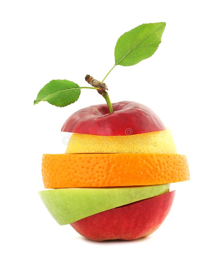 blandad ny frukt royaltyfri foto