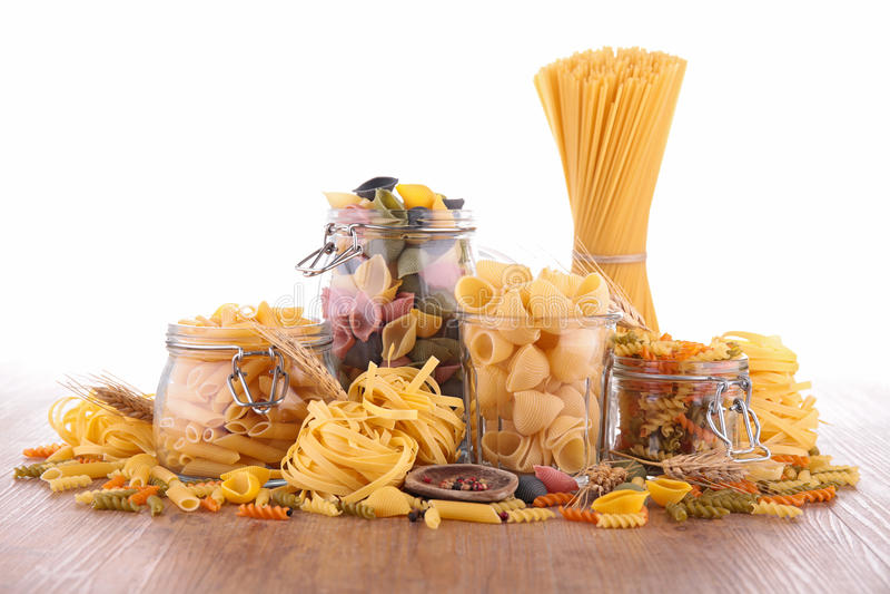 Blandad rå pasta arkivbilder