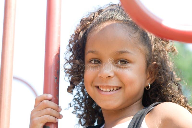 blandad race för härligt barn arkivfoton