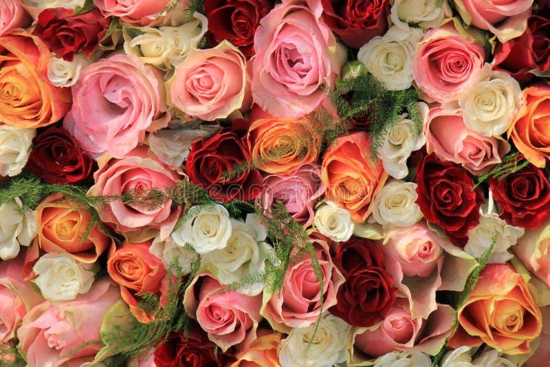 Blandad rosa bukett royaltyfri foto