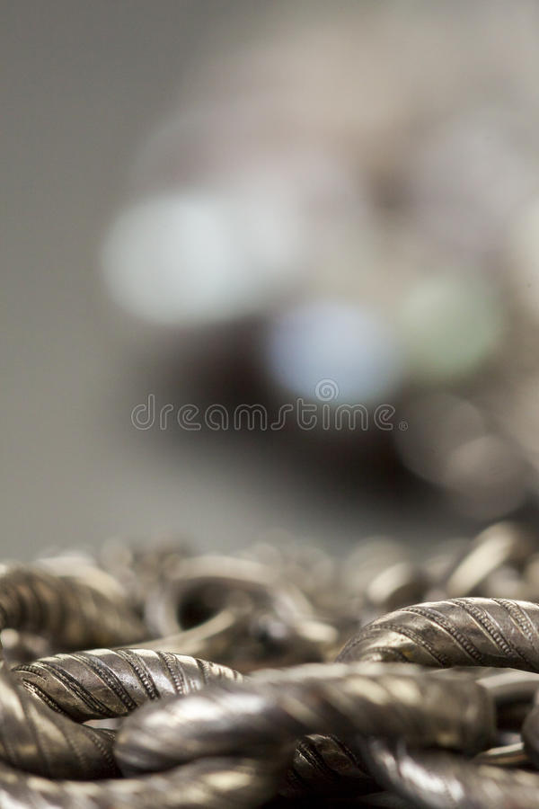 Blandad silverbijouterier arkivfoton