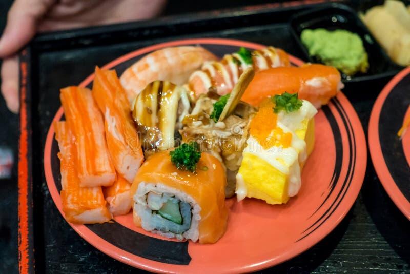Blandad sushi fotografering för bildbyråer