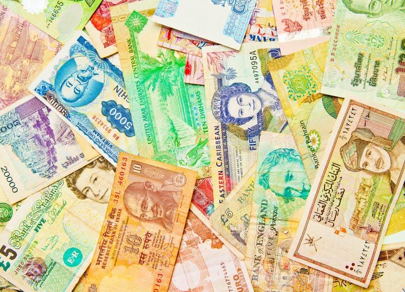 blandad värld för valuta royaltyfri fotografi