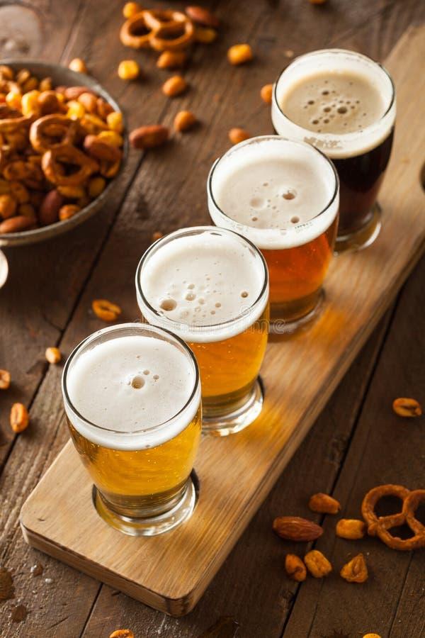 Blandade öl i ett flyg arkivbilder