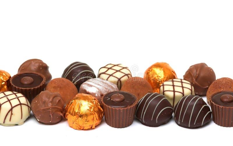 blandade choklader royaltyfria foton